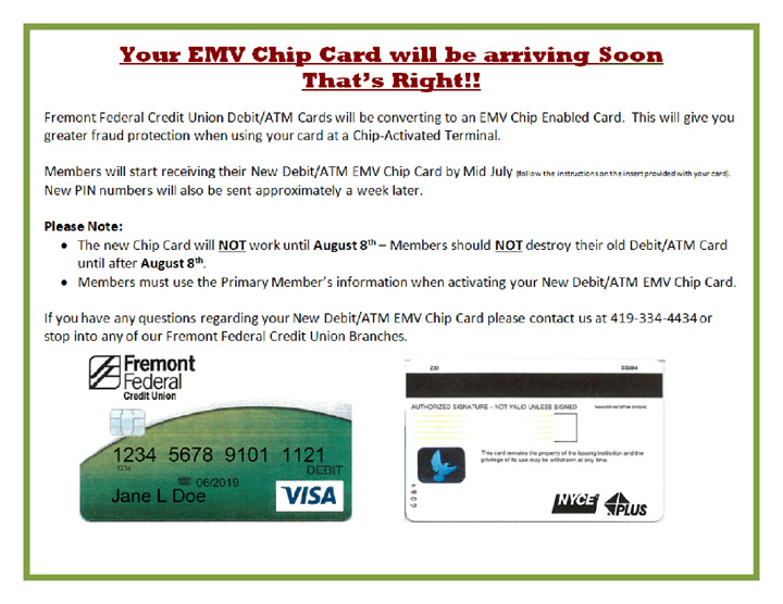 EMV Chip Card Information